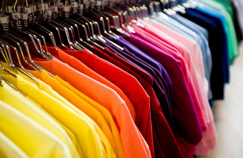 etiquette branchen textilindustrie