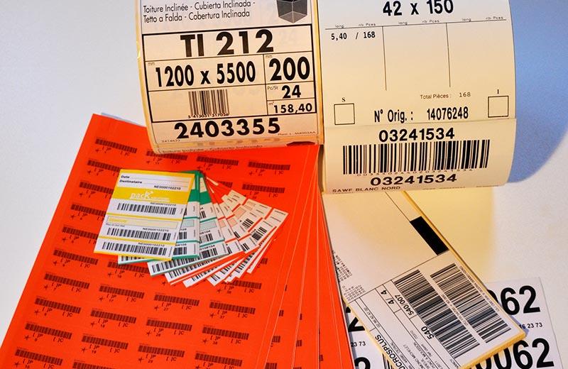 Strichcode Etiketten